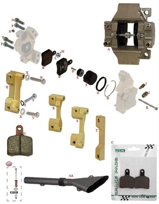 Caliper - BS3-6 & SA2 Rear