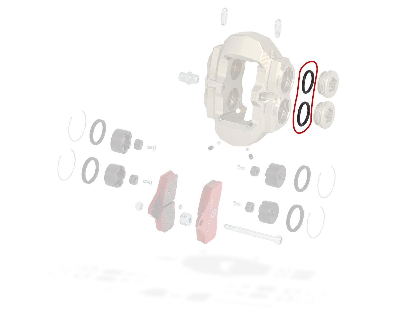 0100.G5, Tony Kart (OTK) FRONT CALIP.PLUG KZ BSS O-RING