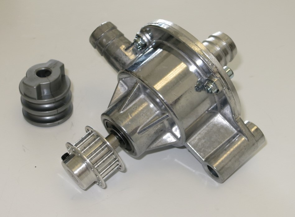 Standard Aluminum Water Pump w/ Standard and Cog Pulley