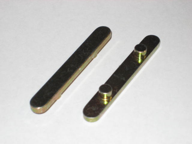 2-Peg Axle Key: 60x8x3 (6mm Ø, 30mm spacing)