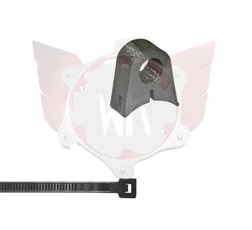 SA-070, Wildkart Fuel Line Single Bracket 10mm - Black