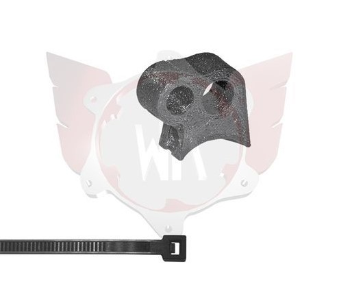 SA-071, Wildkart Fuel Line Double Bracket 10mm - Black