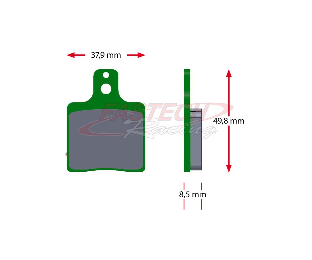 OEM CRG / GP VEN05 Front Brake Pads (Same as 2000+)(Ceramic) - OEM CRG Green