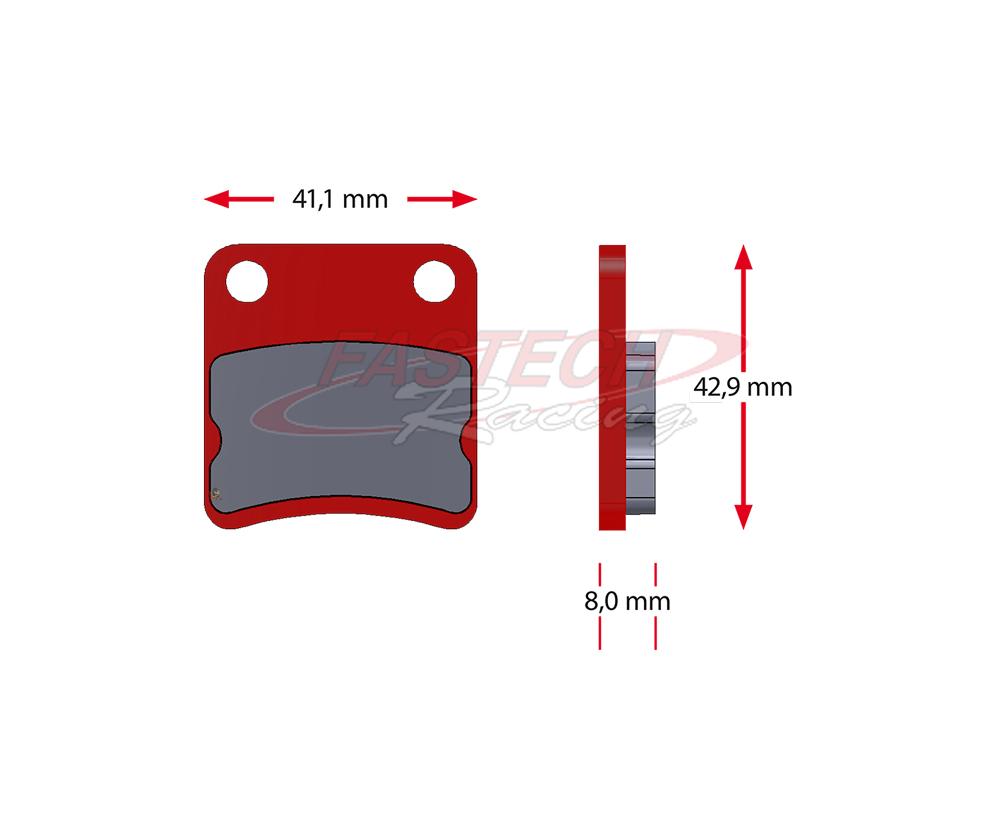 Benik Missle Parolin Kart Cadet Karting Brake Pads, Sinter 5072.S (8.5mm)