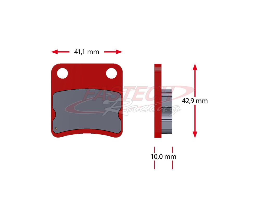 Benik Missle Parolin Kart Cadet Karting Brake Pads, Sinter 5072.S (10mm)