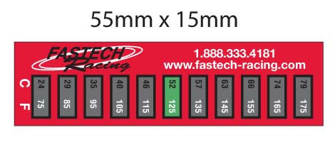 Fastech Quick Temp Strips - For water-cooled engines only - (1 FREE WITH ANY PURCHASE)