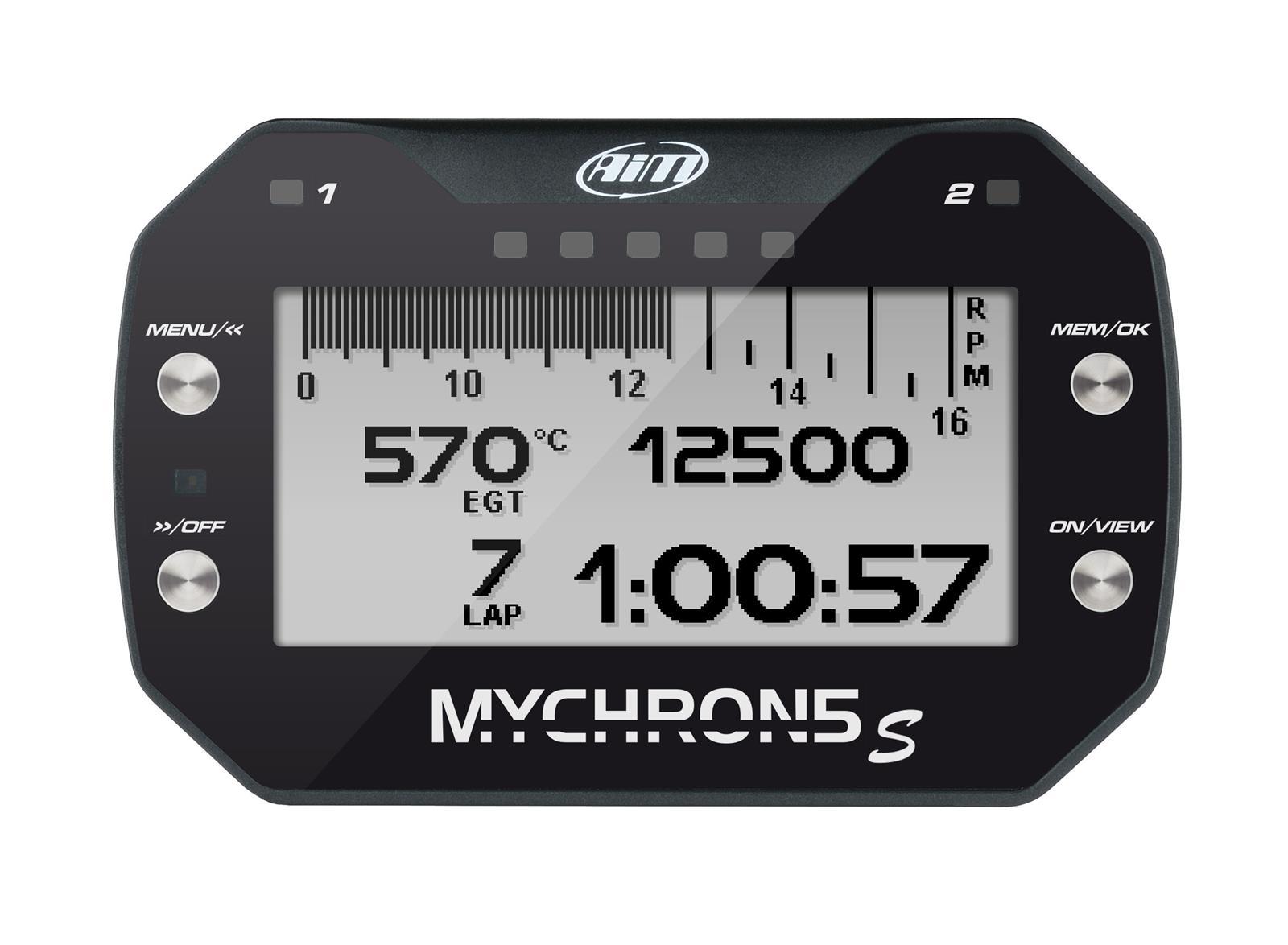 "Mychron5 ""S"" 1T Kart Gauge with GPS, 1-Temp"