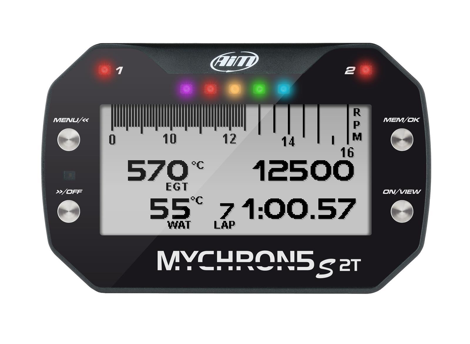 "Mychron5 ""S"" 2T Kart Gauge with GPS, 2-Temp"