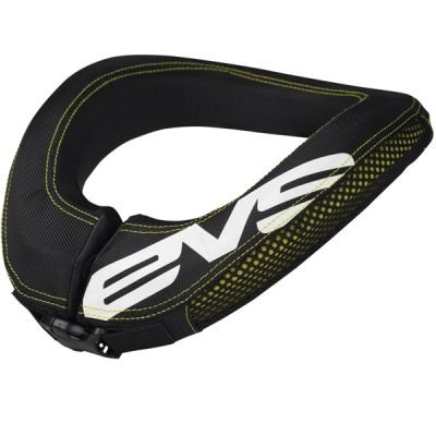 EVS R2 Race Collar - Youth, Black/Yellow