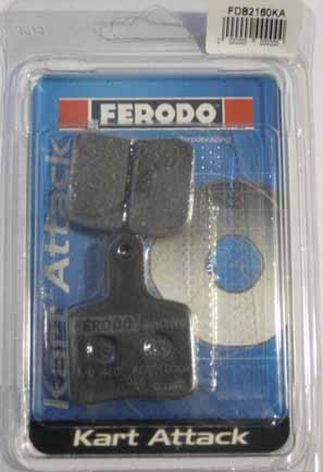 Ferodo Kart Attack Tony Kart Pads (SA2/BS3-7) - Front or Rear