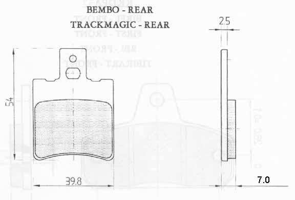 Galfer FD012 G1054 Rear Pads