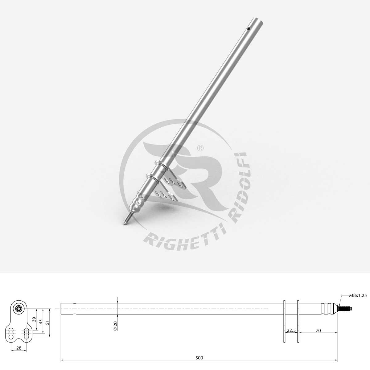 ART / Birel Steering Shaft - Righetti