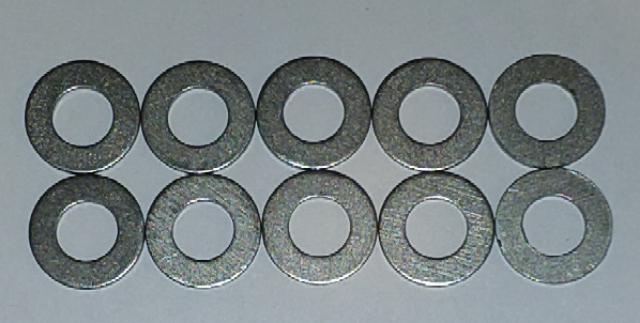 Titanium Washers: 8mm Std OD (10-Pack)