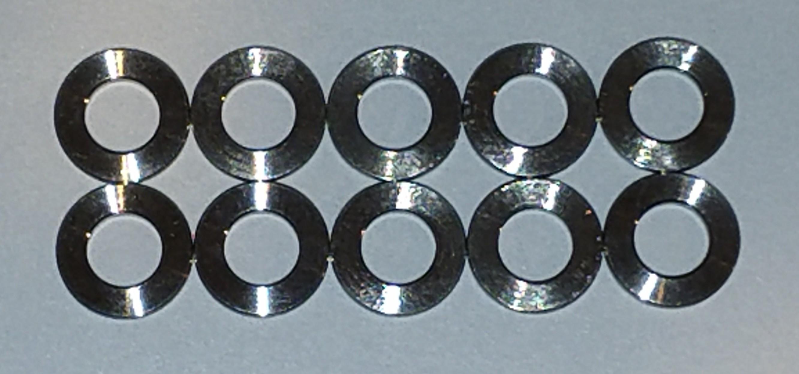 Titanium Washers: 6mm (10-Pack)