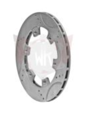 Wildkart Drilled, Grooved & Vented Brake Rotor