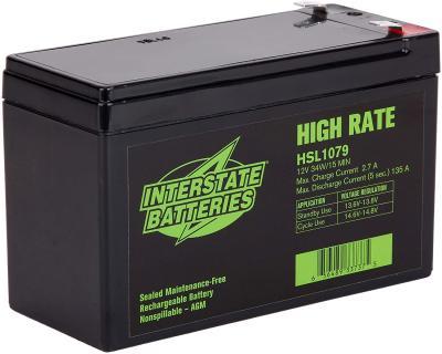 HSL1079, Interstate Battery,  9_AH (6 pounds)