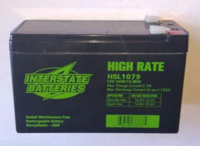 Interstate HSL1079 Battery - 9_AH (6 pounds)