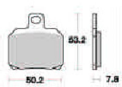 Galfer Brembo FD220 G1054 Rear Pads