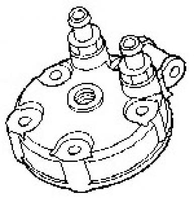 Honda CR125 00-01 Cylinder Head : 12200-KZ4-A90