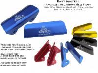 Kart Master Aluminum Heel Stops (1 Pair)