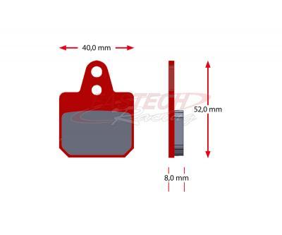 Birel Front/Rear Pads (2012+ Self Adjusting Calipers) - Sinter Red
