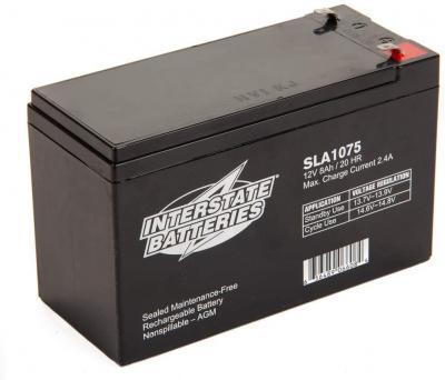 SLA1075, Interstate Battery, 7.5_AH (5 pounds)