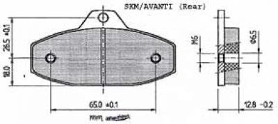 SKM EVO1 Rear Pads - Sinter Red