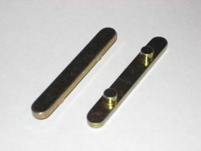 2-Peg Axle Key: 60x8x3 (6mm Ø, 30mm spacing)