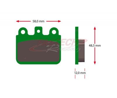 CRG / GP VEN05 Rear Brake Pads (Ceramic) - AFTERMARKET Green