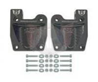 Wildkart Aluminum Heel Cups and Pedal Relocator (1 Pair) - BLACK