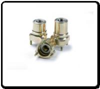 FTP Gold Magnesium Front Hub - 25mm Bearings, 67mm CRG Spacing