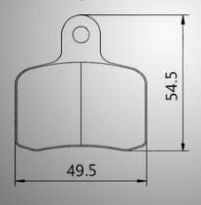 Tony Kart (OTK) Brake Pads (BSD) - (2-pads) - SS Aftermarket