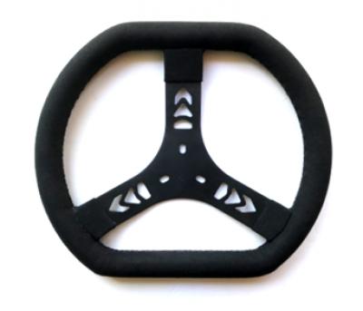 Courtney Concepts 3-Spoke Steering Wheel - BLACK - 320mm