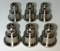 CRG Floating Brake Pin Assembly - V05/10/11 Front (& 2000+) TITANIUM  (6-pack)