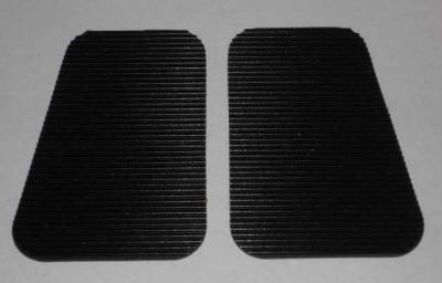 "Ribbed Heel Pads (1-pair) - (5x5"")"