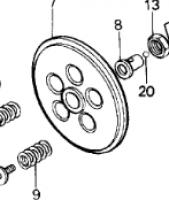 Honda CR125 Clutch Pressure Plate
