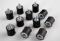 """6mm Stud - Male/Female Rubber Isolator (3/4"""" Diameter x 3/4"""" Length)"""