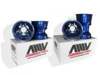 AMV Aluminum Wheel Set, BLUE - 130 / 210mm