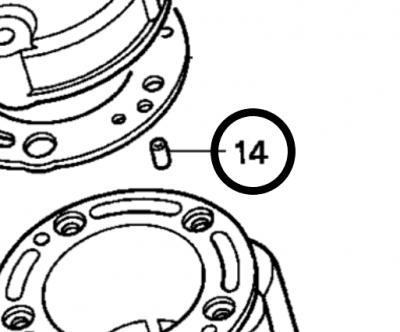 Honda CR125 Dowel Pin for '01 Head: 94301-06100