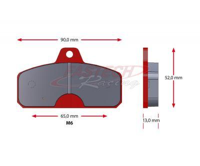Birel Rear (Old Style - 13mm) Pads - Sinter RED