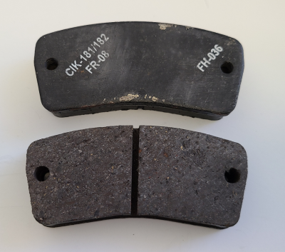 Sinter Unknown Pads, Rear 2 - Sinter Black (Possibly Swiss Hutless)