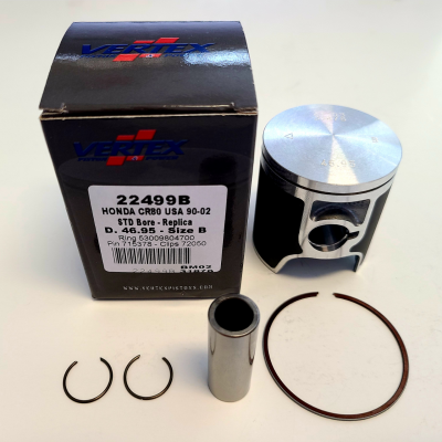 Honda CR80 Piston Kit (86-02), 46.95 Std Bore - Vertex