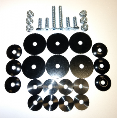 FTP Deluxe Seat Mounting Kit (w/ 6x SELF CENTERING WASHERS)