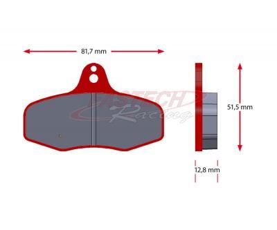 Intrepid EVO3-ET Stock Rear Pads - Red