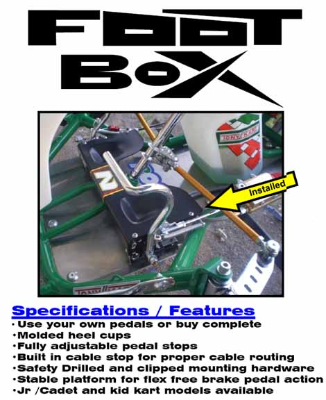 Noonan Kart Racing Nkr Jr Cadet Foot Box Pedal Riser