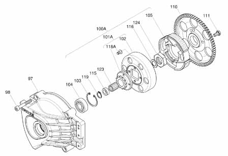Clutch Gear MY09 FastechRacing – Rotax Engine Parts List Diagram